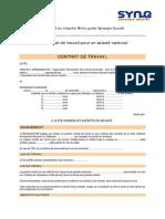 332. Fiche Outil - Exemple de Contrat Salarie National
