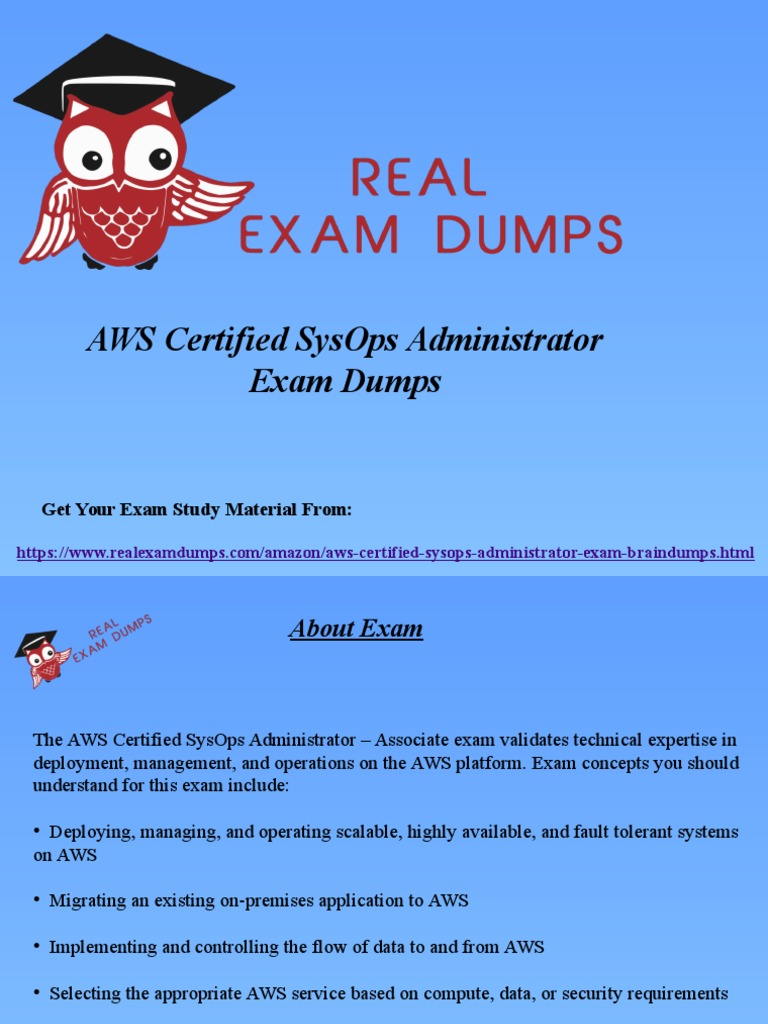 Get valid aws certified sysops administrator dumps aws sysops get valid aws certified sysops administrator dumps aws sysops braindumps realexa test assessment network architecture 1betcityfo Images