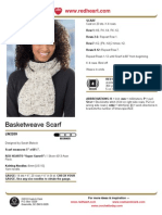 Free Knit Pattern - Basketweave Scarf LW2209