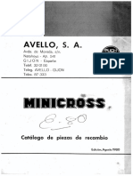 · MiniCross E-80 (1980) - Catalogo de Piezas