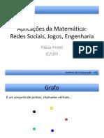 Aplicações Da Matemática - Redes Sociais, Jogos, Engenharia
