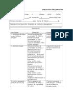 Instructivo de Operación Caja de Contactos