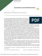 After Developmentalism and Globalization - Wallerstein
