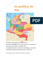 División Política de Colombia 707