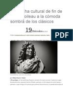 Sobre Boileau y Su Debate Entre Modernos y Antiguos