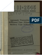 TM11-2545 Automated Transmitter for Perforated Tape Wheatstone McElroy Type XTR-442-C, 1945