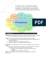 Importance of Financial Aspect in Business Planning