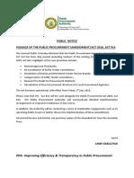 Public Notice Amendment PD
