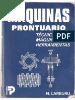 Prontuario de Máquinas - N. Larburu