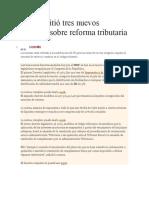 Decretos Sobre Reforma Tributaria