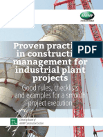 Proven Practices in Construction Management for Industrial Plant Projects