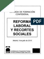 Jornada de formación sobre la reforma laboral y recortes sociales