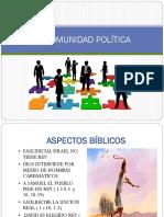 La Comunidad Politica y El Medio Ambiente