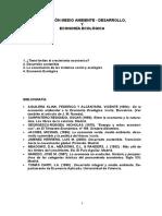 Relacion Medio Ambiente -Desarrolloy Economia Ecologica