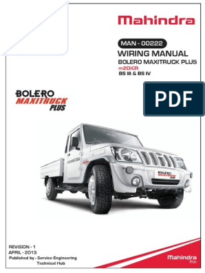 Mahindra Bolero Wiring   Troubleshooting   Electrical Connector on