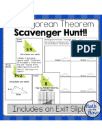 pythagorean scavenger hunt - customary and metric
