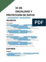 Acuerdo de Confidencialidad y Protección de Datos