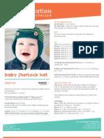 Free Crochet Project - Baby Sherlock Hat SN0110