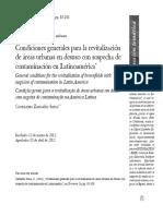 Condiciones Generales Para La Revitalización de Áreas Urbanas en Deshusi Con Sospecha de Contaminación en Latinoamérica