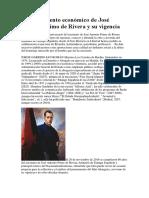 El Pensamiento Económico de José Antonio Primo de Rivera y Su Vigencia