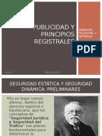 Publicidad y Principios Registrales