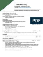 portfolio resume pdf
