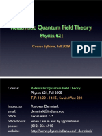 QFT I Syllabus
