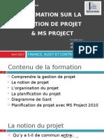 Formation Gestion Du Projet Et MS Project
