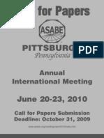 ASABE Meetings 2010