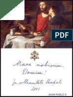 Carta Apostolica Mane Nobiscum Domine - Juan Pablo II
