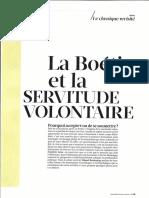 Servitude Volontaire-La Boétie