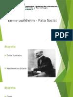 Emile Durkheim fato social