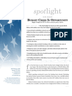 Spotlight 395 Budget Crisis Is Opportunity