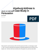 Why the Gettysburg Address is Still a Great Case Study in Persuasion