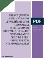 Enlaces Químicos. Estructuras de Lewis e Hibridación de Orbitales (1)
