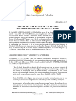 CIC-MC015-2017 - Misiva Cautelar a favor de la Comunidad Vaisnava en Santa Marta
