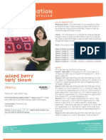 Free Crochet Pattern - Mixed Berry Tarts Throw SN0114