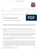 La Música Del Siglo XX - Revista Esfinge