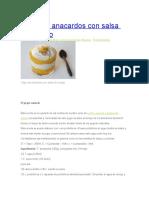 Yogur de Anacardos Con Salsa de Mango