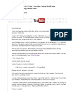 Failed YouTube copyright takedown complaint filed against me by Zurich Heart House (April 2017)