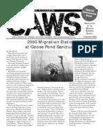 Dec 2000 CAWS Newsletter Madison Audubon Society