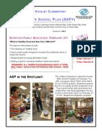 February 2017 Newsletter Classroom Artifact