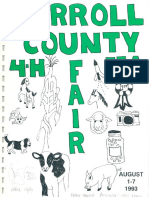 The 1993 annual Carroll County Maryland 4-H FFA Fair program