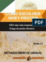 Como escolher o whey protein