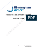BHX Airport Byelaws 2004