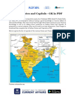 Indian States and Capitals GK in PDF