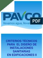 Curso Pavco - Criterios Tec. II Agua Potable Avanzado