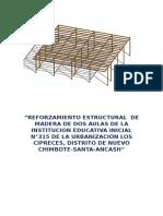 Reforzamiento Estructural de Madera de Dos Aulas de La Institucion Educativa Inicial n