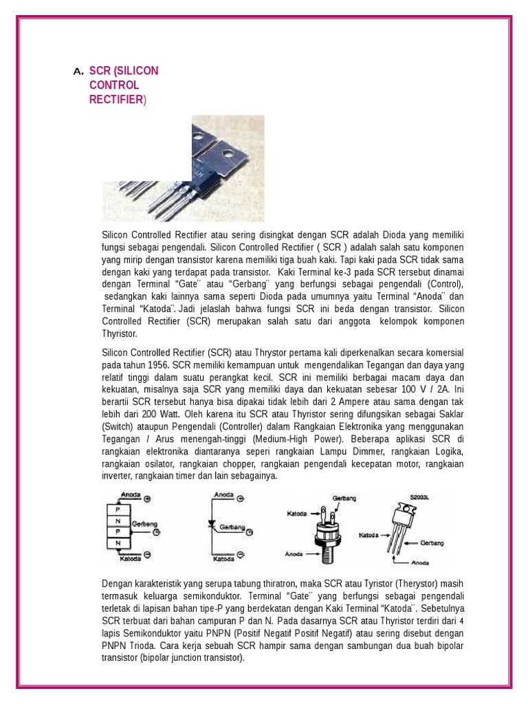 Scr Ujt Triac Diac Solid State Relay Circuit Diagram Gambar Skema Rangkaian Elektronika