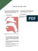 Africada alveolar sorda